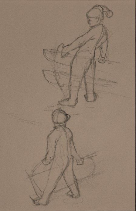 Sketch work Winter scene #2