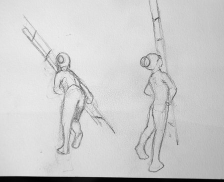 Boy with ladder